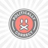 Icono político correcto Libertad de expresión del censor de la corrección política ilustración del vector
