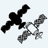 Icono por satélite Fotografía de archivo libre de regalías