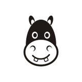 Icono principal del hipopótamo Fotografía de archivo libre de regalías