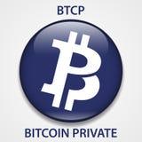 Icono privado del blockchain del cryptocurrency de la moneda de Bitcoin Dinero electrónico, de Internet virtual o símbolo del cry libre illustration