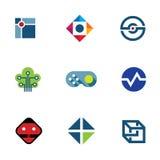 Icono profesional del logotipo de las ideas de la diversión de la comunidad de la compañía del juego del desarrollador de las TIC Fotos de archivo libres de regalías