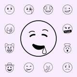 icono que babea Sistema universal de los iconos de Emoji para la web y el m?vil stock de ilustración