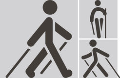 Icono que camina nórdico Fotos de archivo