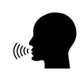 Icono que habla de la voz Fotos de archivo libres de regalías