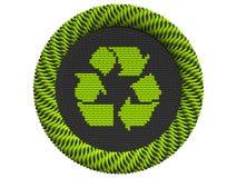Icono que recicla con 3 flechas Fotografía de archivo