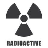 Icono radiactivo adentro ilustración del vector