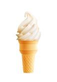 Icono realista 3d del cono de helado de vainilla libre illustration