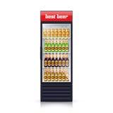 Icono realista del ejemplo del dispensador del refrigerador de la cerveza ilustración del vector