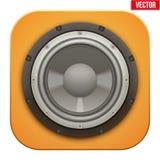 Icono realista del Presidente de la carga de los sonidos Vector Imagen de archivo libre de regalías