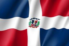 Icono realista dominicano de la bandera stock de ilustración