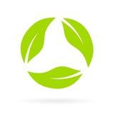Icono reciclado hojas del vector Imágenes de archivo libres de regalías