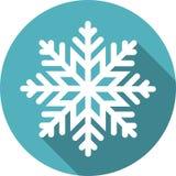 Icono redondo del copo de nieve Fotografía de archivo