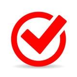 Icono redondo rojo del checkbox libre illustration