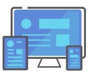 Icono responsivo del diseño web Ilustración del vector Fotos de archivo