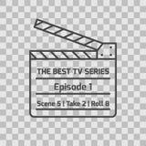 Icono resumido ligeramente alineado aislado de la serie televisiva libre illustration