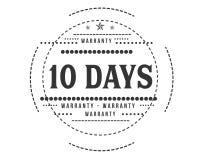 icono retro clásico del diseño de la garantía de 10 días libre illustration