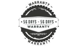 icono retro clásico del diseño de la garantía de 56 días ilustración del vector