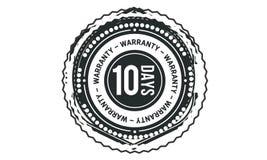 icono retro clásico del diseño de la garantía de 10 días stock de ilustración