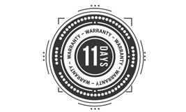 icono retro clásico del diseño de la garantía de 11 días stock de ilustración