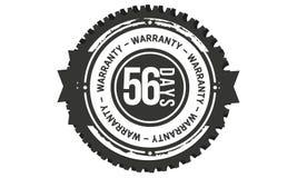 icono retro clásico del diseño de la garantía de 56 días libre illustration
