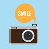 Icono retro de la cámara Foto de archivo libre de regalías