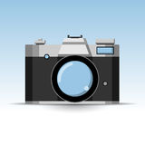 Icono retro de la cámara de la foto Fotografía de archivo