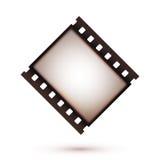 Icono retro de la tira de la película del vintage en blanco viejo Imágenes de archivo libres de regalías