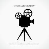 Icono retro del cine Foto de archivo libre de regalías