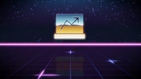 icono retro del diseño del synthwave del ordenador portátil libre illustration