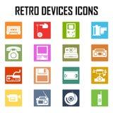 Icono retro del sistema de los dispositivos viejo Stock de ilustración