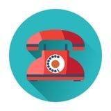 Icono retro del teléfono Imagen de archivo libre de regalías