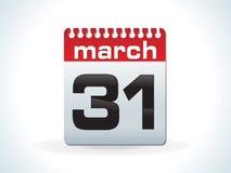 Icono rojo brillante del calendario Foto de archivo libre de regalías