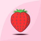 Icono rojo de la fresa Foto de archivo libre de regalías
