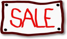 Icono rojo de la venta en letrero stock de ilustración