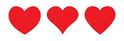 Icono rojo del corazón, icono del amor ilustración del vector