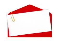 Icono rojo del correo Fotografía de archivo libre de regalías
