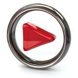 Icono rojo del juego Fotos de archivo
