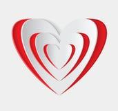 Icono rojo del vector del corazón Imagen de archivo libre de regalías