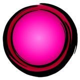 Icono rosado oscuro grande Enso del círculo