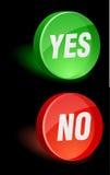 Icono sí/no. Fotografía de archivo