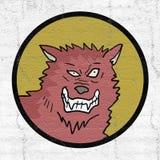 Icono salvaje del lobo Imagen de archivo libre de regalías