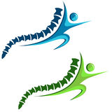 Icono sano de la espina dorsal libre illustration