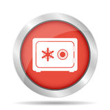 Icono seguro del vector Imagen de archivo