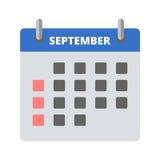 Icono septiembre del calendario Foto de archivo