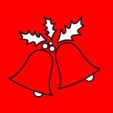 Icono simple con la imagen de las campanas del negro de una Navidad del contorno libre illustration