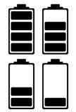 Icono simple de la carga de la batería Fotos de archivo libres de regalías
