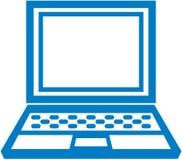 Icono simple de la computadora portátil del vector Fotografía de archivo libre de regalías