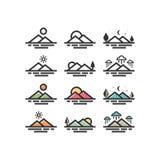 Icono simple de la montaña Montañas Flaticon Icono de la naturaleza Foto de archivo libre de regalías