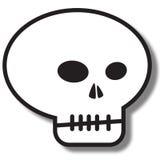 Icono simple del cráneo Imagen de archivo