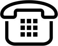 Icono simple del teléfono - ilustración Imagen de archivo